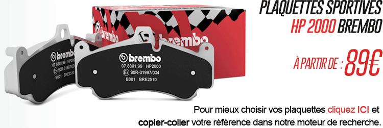 Plaquettes de frein Brembo HP 2000