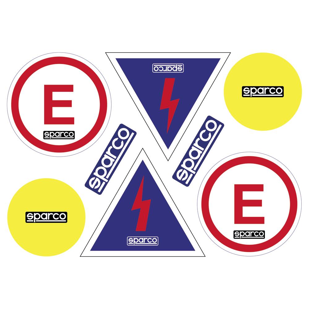Planche de 8 stickers autocollants compétition - Sparco