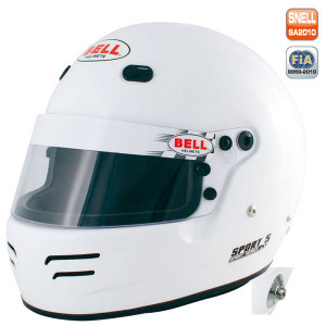 Casque intégral Bell Sport 5 Snell SA2015 FIA8859-2015 avec clips