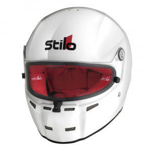 Casque intégral Stilo ST5 FN CMR Karting Blanc Int.Rouge Snell CMR2016