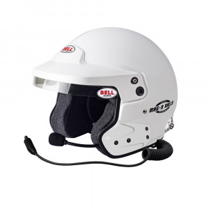 Casque jet Bell Mag-9 Rally avec clips Hans Snell SA2015 FIA8859-2015