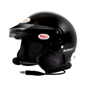Casque jet Bell Mag-9 Rally Carbon clip hans Snell SA2015 FIA8859-2015