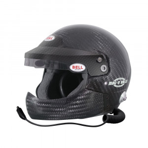 Casque jet Bell MAG-9 Rally Carbon HCB hans Snell SA2015 FIA8859-2015
