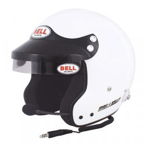 Casque jet Bell Mag 1 Rallye radio + clips hans FIA8859-2015