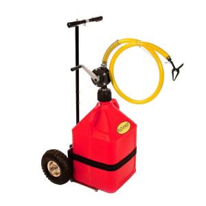 Chariot Refuelling 56L (1 bidon 56l rouge+1trolley+1 pompe manuelle)