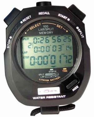Chronometre Fastime 10 noir 100 tours en mémoire
