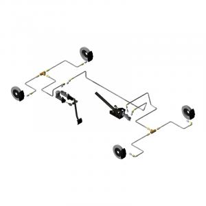 Circuit hydraulique F2000 pour 2 MC, raccords sur MC et étriers, 2 Tés