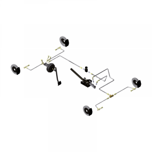 Circuit hydraulique Gr.A/F banjos sur MC et étriers