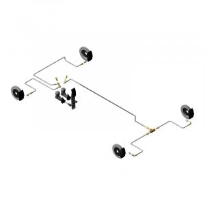 Circuit hydraulique Monoplace banjos sur MC, raccords sur étriers