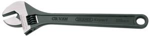 Clé à molette 375mm ouverture 45mm graduée acier bruni