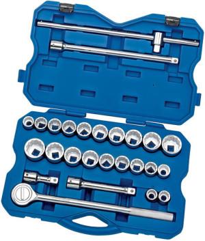 Coffret clé à cliquet réversible 21 douilles 3/4 mm/pouces 26 pièces