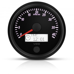 Compte-tours 8000trs/min - VDO Singleviu - fond noir - diamètre 80mm