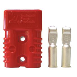 Connecteur bi-polaire forte intensité 175A section 50mm² rouge (pièce)