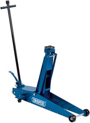 Cric roulant pro 2 tonnes levage 140 à 800mm avec pédale quick lift
