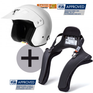 Pack Casque XR BSR BF1-R7 + Hans® Stand 21 Club Series