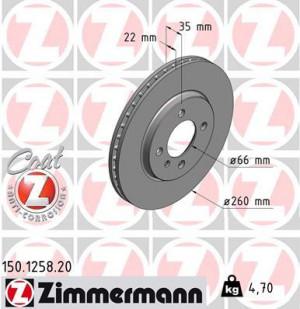 Disque de Frein Zimmermann Gr.N BMW Série 3 E30 325 ix Av (pièce)