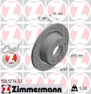 Disque de Frein Zimmermann Percé BMW E30 M3 282x12 Ar (pièce)