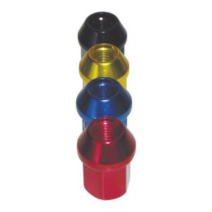 Ecrou conique 12x125 60° L34mm 20g clé 19mm aluminium anodisé couleur