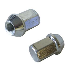 Ecrou conique 12x125 60° L40mm 19g clé 17mm aluminium noir fermé