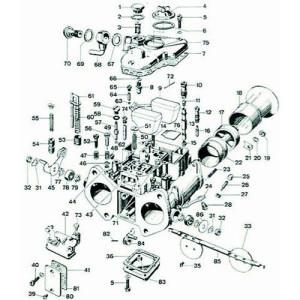 Ecrou vis de réglage de dérivation carburateur Weber DCOE, DCNF (n°27)