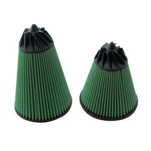Filtre à air Green conique entrée Diam 70/Cone 120x100/H 160 coudé 30°