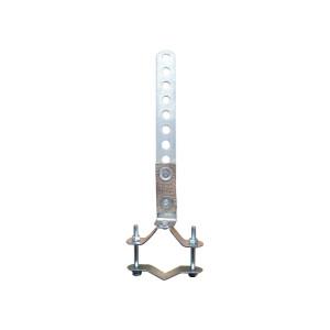 Fixation universelle échappement acier collier 45 à 65mm avec sangle
