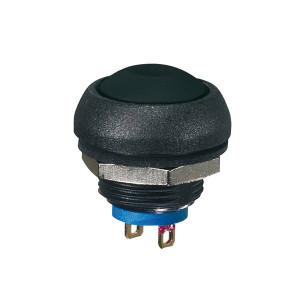Interrupteur bouton poussoir compact - On momentané - noir
