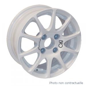 Jante Evo Corse BMW E30 7x15 4x100 ET28 diamètre bague 56.1mm Blanc