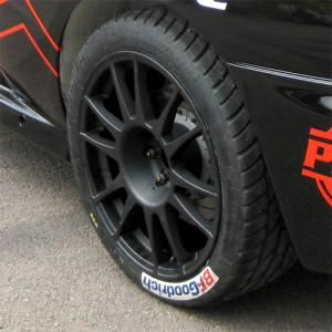 Jante Evo Corse Subaru WRC 2002 8x18 5x100 ET11 Noir