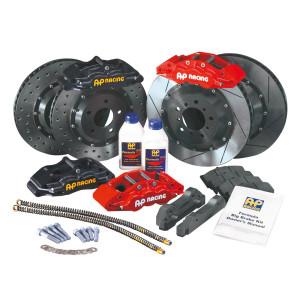 Kit freinage AP Racing Bmw M3 E36 6 pistons Dia.343mm noir (18 pouces)