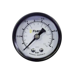 Mano de pression d'essence 0>1 Bar/15 PSI 1/8 NPTF