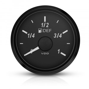 Mano niveau d'essence VDO Singleviu Levier fond noir 52mm