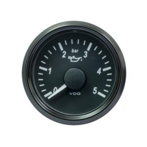Mano pression huile VDO Singleviu 0-5 bars fond noir 52mm
