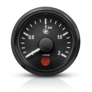 Mano pression turbo électrique VDO Singleviu 0-2 bars fond noir 52mm