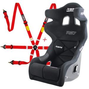 Pack siège baquet FIA BPS RS7 + Harnais FIA BPS 2x2x2