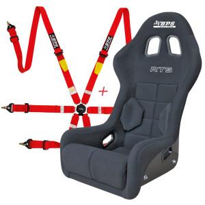 Pack siège baquet FIA BPS RTS + Harnais FIA BPS 2x2x2