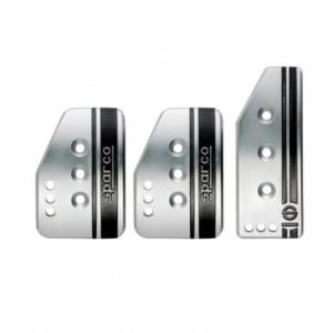 Pédalier Sparco Settanta couleur gris aluminium
