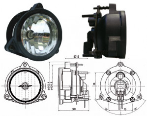 Phare Longue Portée IPF 985 HID Xénon 4300K Diamètre 107mm