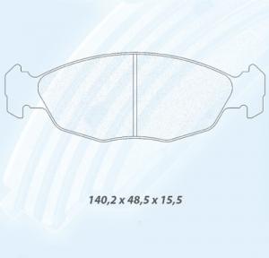 Plaquettes Carbone Lorraine 4017 Saxo VTS 106 S16 1.6 16v RC6 Av