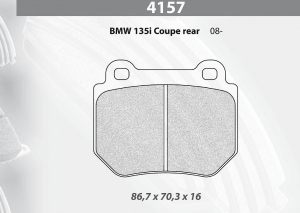 Plaquettes Carbone Lorraine BMW 135 CUP AR RC5+