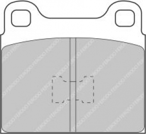 Plaquettes Carbone Lorraine VW Golf I 1.6 GTI 75>79 4009 RC6 Av