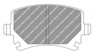 Plaquettes de frein Ferodo DS Perf Audi A3 tout type arrière FDS1636
