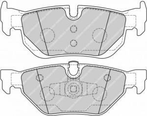 Plaquettes de frein Ferodo DS Perf Bmw Série 1 et 3 > 2007 AR FDS1807