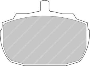 Plaquettes de frein Ferodo DS Perf MG MGR V8 3.9 190 92>95 AV FDS832