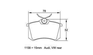 Plaquettes de frein Pagid 1158 RS44 Renault Clio 3 & 4 / Mégane 2 AR