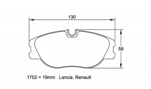 Plaquettes de frein Pagid 1702 RS44 Renault Mégane Coach 2.0 16V AV