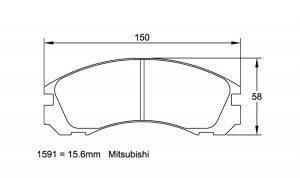 Plaquettes de frein Pagid RS14 Mitsubishi Lancer Evo III AN 92-94 AV