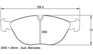 Plaquettes de frein Pagid RS44 Audi RS4 Année 00-02 Avant
