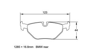 Plaquettes de frein Pagid RS44 BMW M3 E30 EVO I