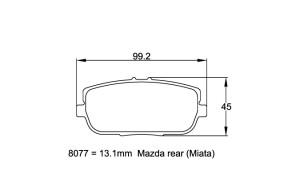 Plaquettes de frein Pagid RS44 Mazda MX-5 Miata Année 06-15 Arrière